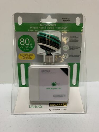 ! NEW ! Square D by Schneider Electric HEPD80 Home Electronics Protective Device