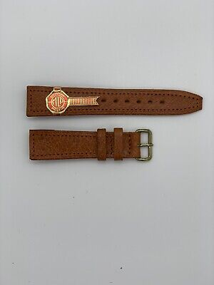 Vintage genuine Pig Skin Leather open ended Watch strap by Monopol