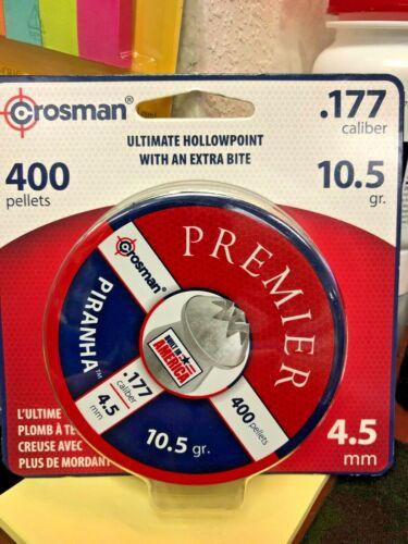 Crosman, Piranha, Ultimate Hollowpoint, Extra Bite, .177 Caliber, 400 Pellets