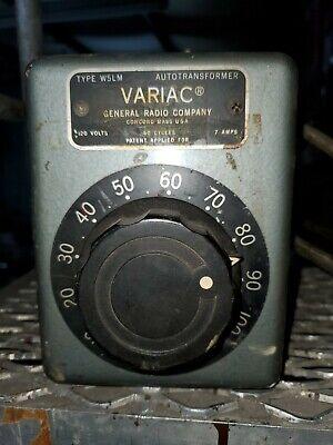 General Radio Company W5m Variac Autotransformer Line 120v 7amps