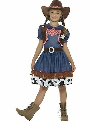 Girls Texan Cowgirl Costume Kids School Book Week Fancy Dress Party Outfit