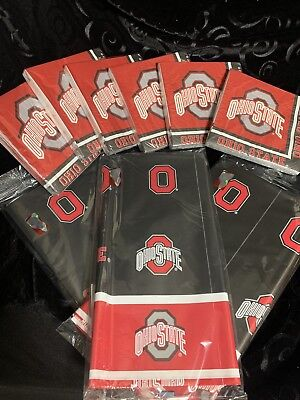 Ohio State Party Pack (5) 120 Napkins And 3 Tablecloths Neb - Ohio State Party Supplies