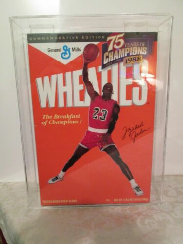 Michael Jordan 1st Edition  Wheaties Box  with display case - full cereal box