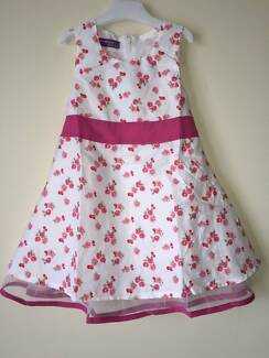 BRAND NEW GIRLS SUMMER PARTY FLORAL DRESS SIZE 8