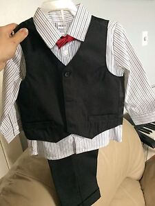 TODDLER VEST, PANTS, SHIRT, and TIE