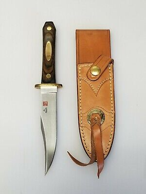 "Vintage 1980's Al Mar 8507 Bowie Dagger Knife 9.5"" Seki Japan LE 54/200 w Sheath"