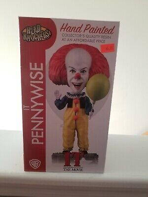 - NECA NEW PENNYWISE IT HEAD KNOCKER STATUE BOBBLE FIGURE TOY HORROR MOVIE PAINTED