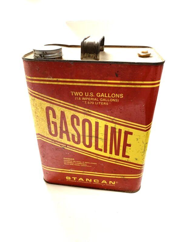VTG Stancan One Gallon Gas Can Retro Garage Gasoline Metal Tin Antique Man Cave