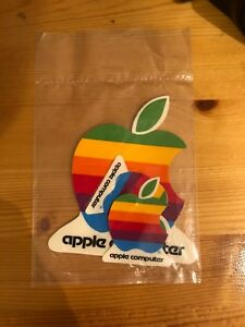 3 original Apple Computer stickers SEALED