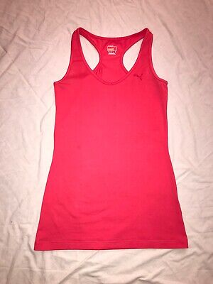 Puma Dry Cell Racer Back Vest Coral Size Small 8-10