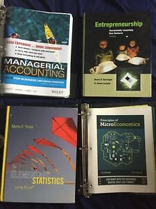 Brock business textbooks 1st and 2nd year courses