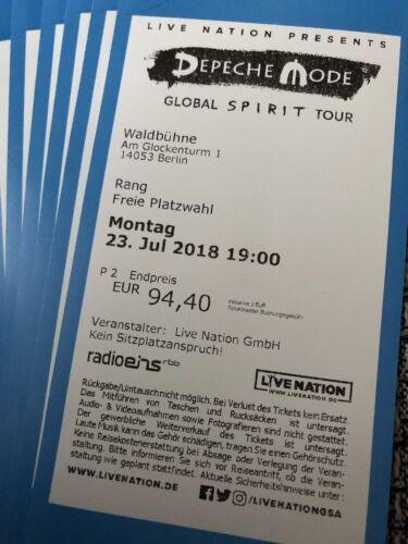 Depeche Mode Berlin Waldbühne 23.7.18 Sitzplatz freie Platzwahl Rang Ticket