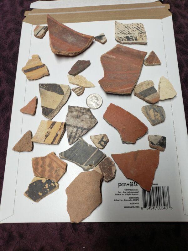 Native American Anasazi -Pottery Shards Variety Artifacts
