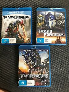 Transformers special edition Blue-rays $15 each or all 3 for $30 Springwood Logan Area Preview