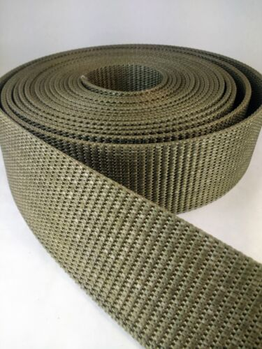 25 feet 2 1/4 military type web belt heavy nylon webbing coyote