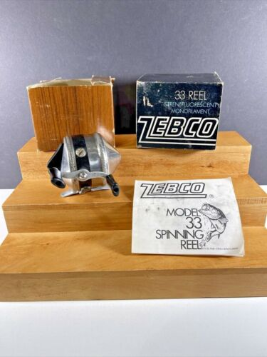 Vintage ZEBCO  #33 SPINCAST FISHING REEL in Box with Manual