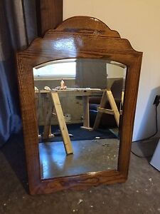 Large Refinished Antique Mirror