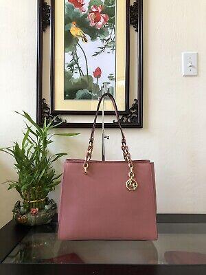 NWT Michael Kors Sofia Rose Leather Large Shoulder Tote Bag Purse $398