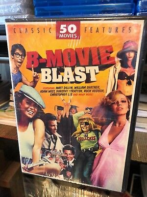 B-Movie Blast: 50 Movies (DVD) African Safari, Indian Paint, Tomboy, Galaxina...