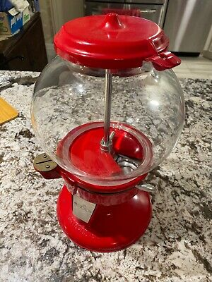 vintage carousel gumball machine Single Head VTG Red No Stand GOOD CONDITION