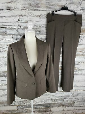 The Limited Collection Womens Pant Suit Tan Gray Size 8 Jacket Size 10 Pants