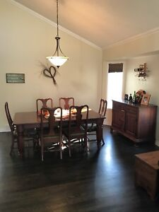 Solid cherry 8 piece dining room set