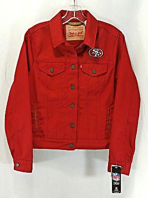 LEVI STRAUSS & CO. Women's San Francisco 49ers Red Jean Jacket Size M Medium