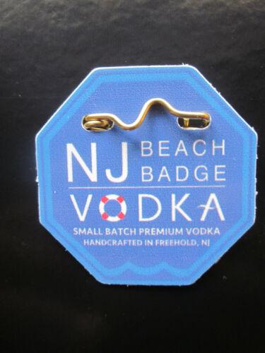 NEW  JERSEY  BEACH   BADGE  VODKA  BEACH  BADGE/TAG