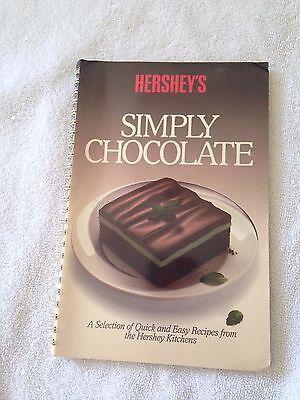 Hersheys Simply Chocolate Recipes Illustrated Cookbook Vintage