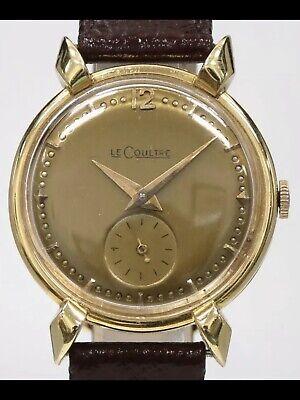 Jaeger LeCoultre Vintage Mens Solid 18K Gold Watch