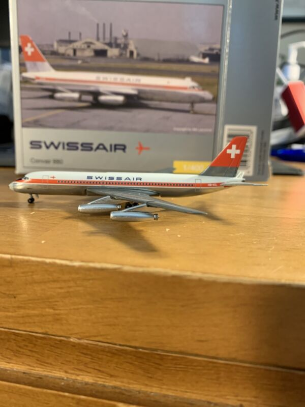 Herpa 560528 Swissair Convair CV-880 HB-ICL 1:400 Scale Diecast Model