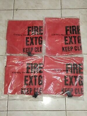 Lot 4x Large Fire Extinguisher Cover For 5lb-20lb Extinguisher No Window