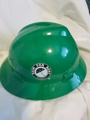 Msa Skullgard Green Full Brim Hard Hat With 4 Point Suspension Standard Size M