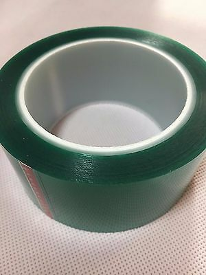 1mil High Temp Green Polyester Masking Tape For Powder Coating- 35 X 72yds New