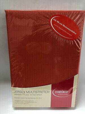 Jersey Multistretch Boxspringbett Spannbettlaken 110x200-130x220 Apfelsine