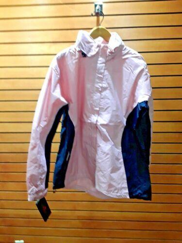Waterproof Rainsuit Womens XL Pink Black Jacket Black Pants Retail $120 Golf nwt
