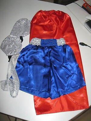 Faschings Kostüm Boxerin mit Umhang, Stulpen und (Kostüm Mit Stulpen)