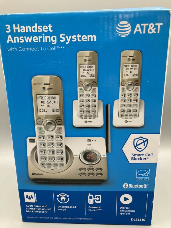 OPEN BOX AT&T DL72319 DL72319 DECT 6.0 3-Handset Cordless Phone in Multi