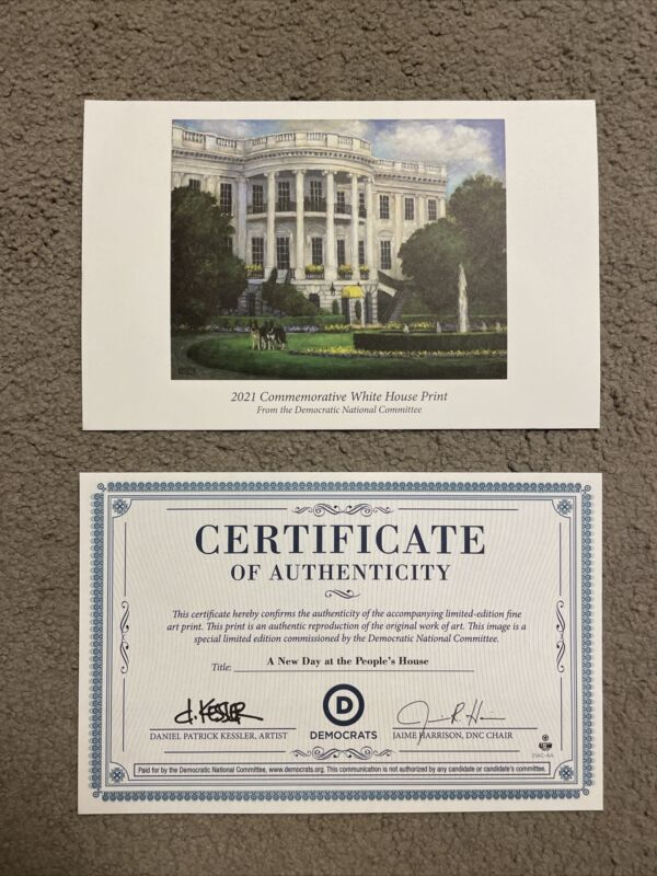 Authentic White House Commemorative Print with COA - FREE SHIPPING