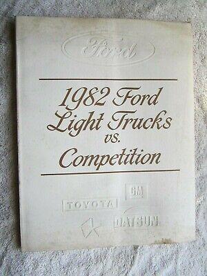 1982 FORD LIGHT TRUCKS vs COMPETITION BOOK, CHEVROLET, DODGE, TOYOTA, DATSUN