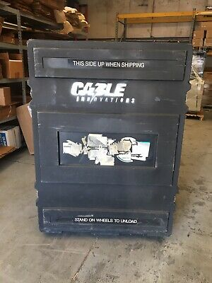 Trade Show Shipping Crate - Hard Plastic Black - 57 X 40 X 55