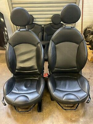 MINI COOPER S JCW R56 PIANO BLACK HEATED LEATHER SEATS COMPLETE SET INTERIOR