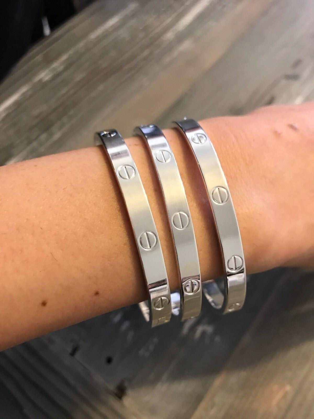 Bracelet - Women's Screw Head Love Cuff Bangle Bracelet Screwdriver Style
