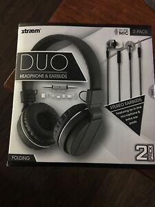 Xraem DUO headphone and earbuds
