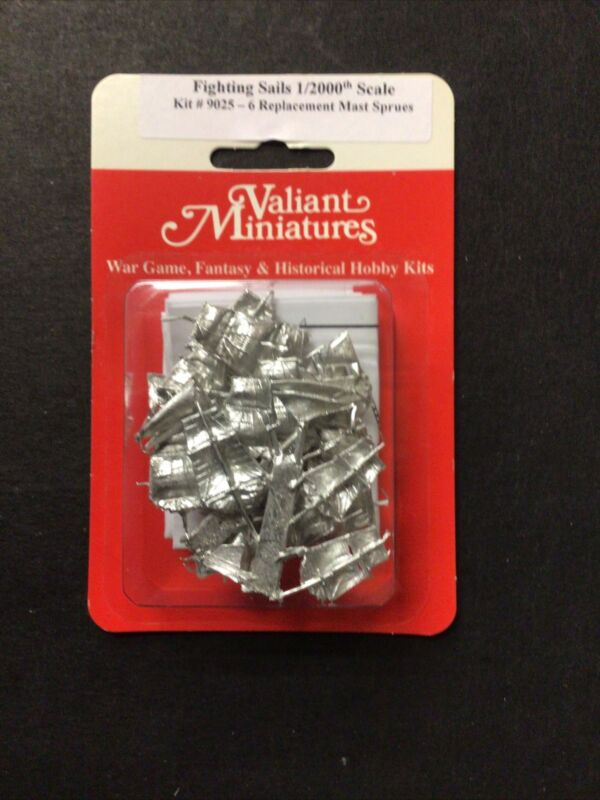 Fighting Sails 1/2000th Replacement Sail 6 Mast Sprue Pack #9025 - Valiant