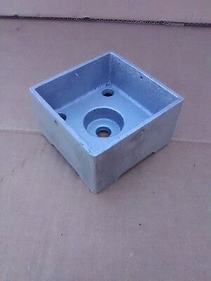 4x4 Base (Post Base,Anchored 4x4 Heavy Cast Aluminum Pack of 4 MADE IN THE USA)