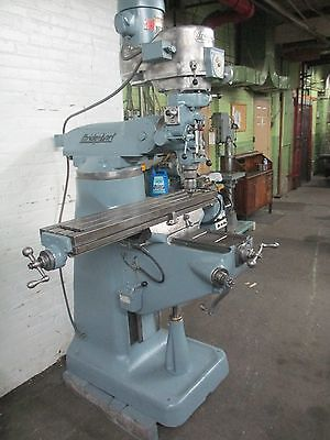 Bridgeport 1 12 Hp Vertical Milling Machine - 9 X 42 Pwr Fd Table