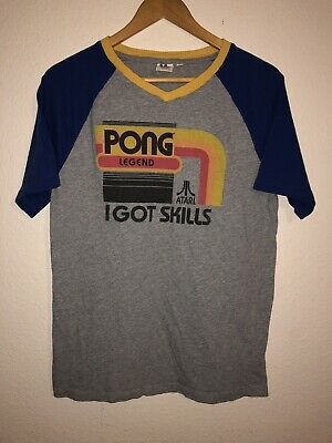 Pong Legend I Got Skills Junk Food T-Shirt Size S Atari