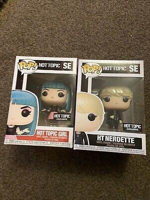 Hot Topic Girl And Nerdette Funko Pop