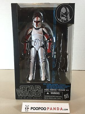 """Star Wars Black Series Clone Trooper Captain 6"""" Action Figure In Stock USA"""